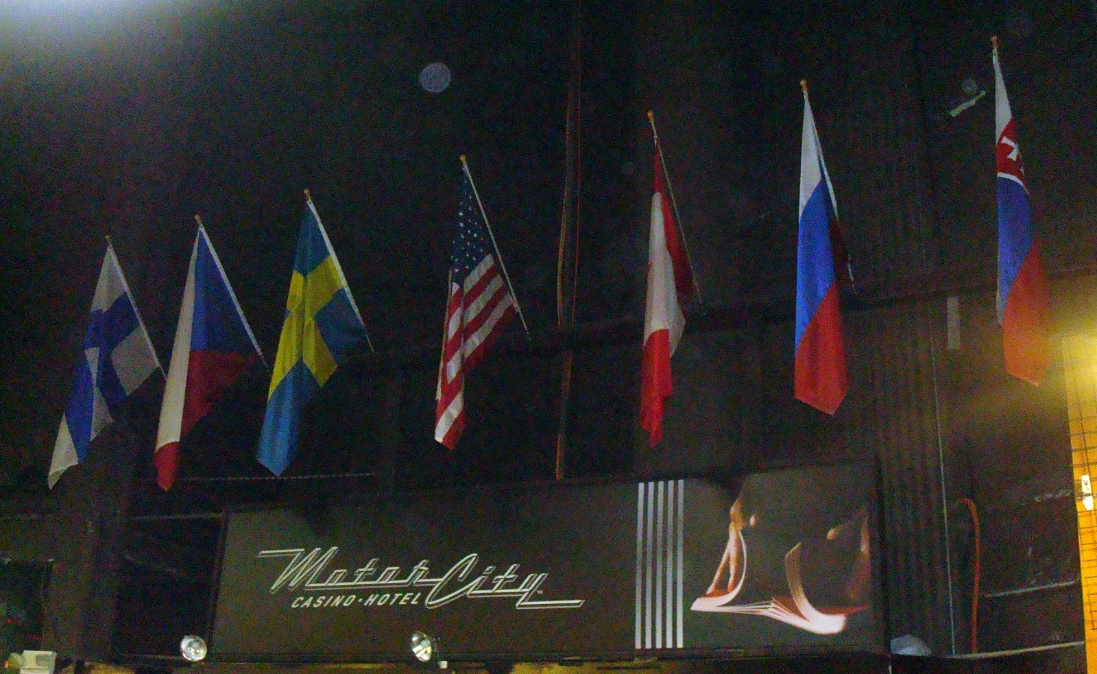 Flags from the Wings home countries.