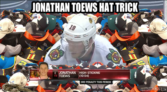 Toews Hat Trick