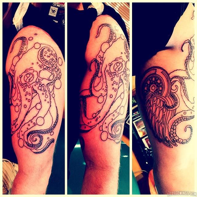 Beginning of Tattoo