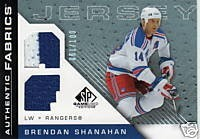 shanny jersey card as a ranger.