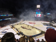 Stadium Series game handshake line