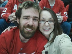 At the game!